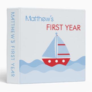 "1,5"" libro de recuerdos del barco de vela carpeta 1 1/2"""
