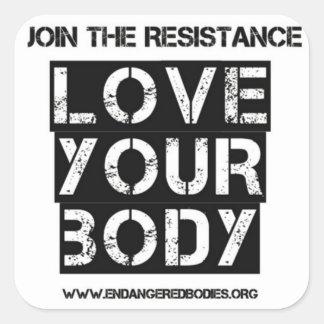 "1.5"" Love Your Body Sticker"