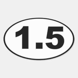 1.5 Mile Oval Sticker