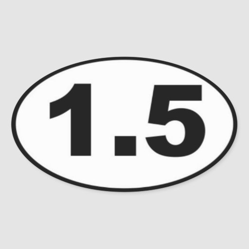 1.5 Mile Oval Sticker