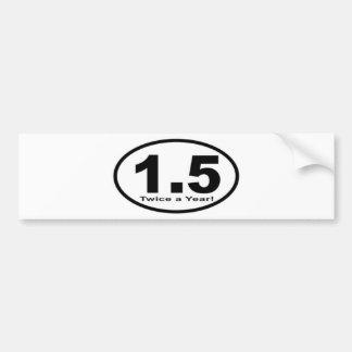 1,5 millas dos veces al año de pegatina para el pa etiqueta de parachoque