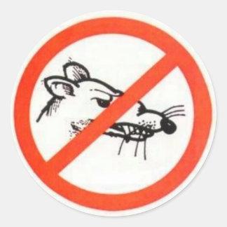 "1.5"" No Rat Sticker"