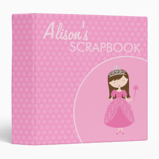 "1,5"" princesa Scrapbook Carpeta 1 1/2"""