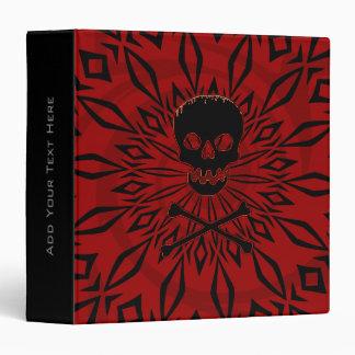 "1.5"" Red Rage Skull Binder"