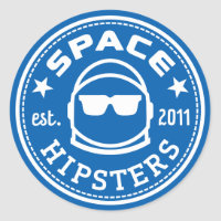 """1.5"""" Space Hipsters Logo Stickers"""