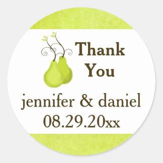 "1.5"" Wedding Favor Sticker   Perfect Pair"