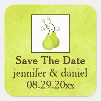 "1.5"" Wedding Sticker | Perfect Pair | Green, White"