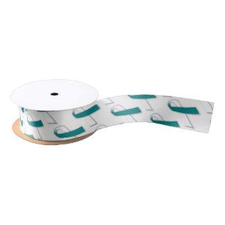 "1.5"" Wide Satin Cervical Cancer Awareness Ribbon Blank Ribbon"