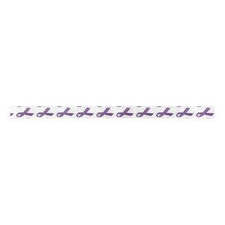 "1.5"" Wide Satin Pancreatic Cancer Awareness Ribbon Blank Ribbon"