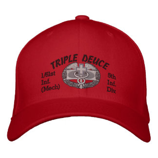 1/61st Inf. 5th Inf Div. CMB Embroidered Hat