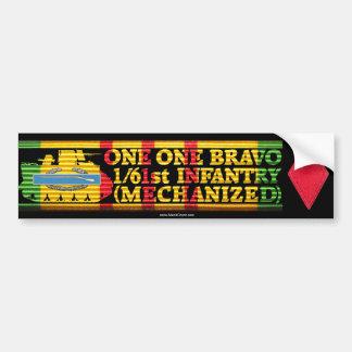 1/61st Inf. Mech. One One Bravo Bumper Sticker Car Bumper Sticker