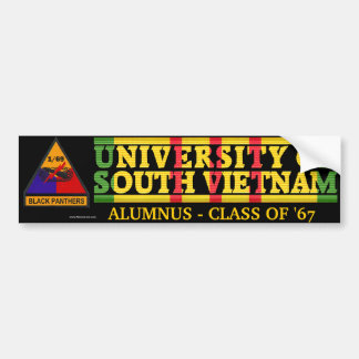 1/69th Armor - U of South Vietnam Alumnus Sticker