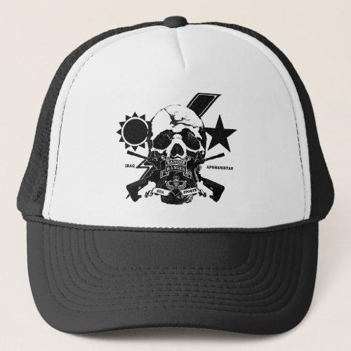 175 Ranger skull design with tab  IraqAfghan Trucker Hat