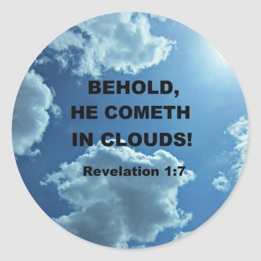 1:7 de la revelación pegatina redonda