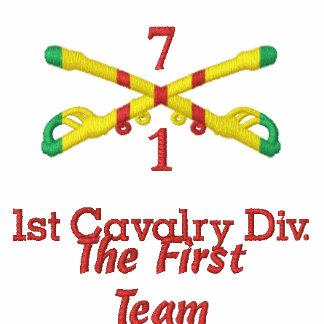 1 7o Cav 1r Cav Rifles y camisa cruzados Div UH1