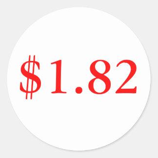 $1.82 CLASSIC ROUND STICKER