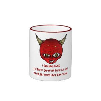 1-900-666-0666  Live Beasts! Ringer Coffee Mug