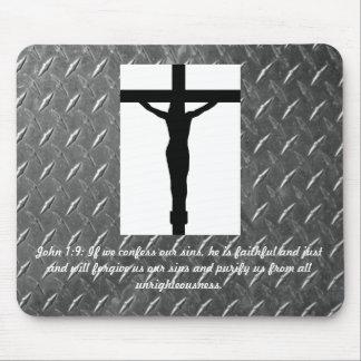 1:9 Cristo de Juan en el cojín de ratón cruzado Tapete De Ratones