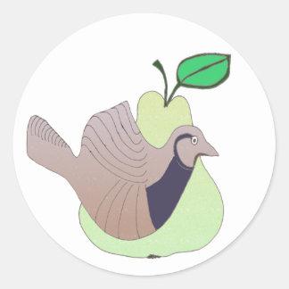 1 A Partridge in a Pear Tree Classic Round Sticker