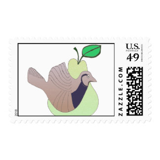 1 A Partridge in a Pear Tree postage stamp