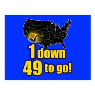 ¡1 abajo, 49 a ir! - Inmigración de Arizona Postales
