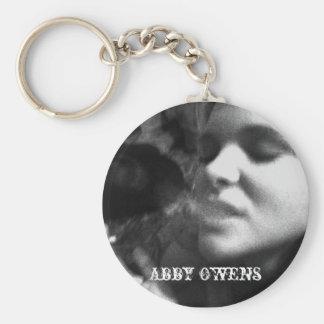 1, Abby Owens Basic Round Button Keychain
