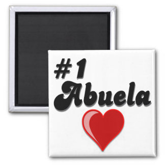 #1 Abuela Granparent's Day Gifts 2 Inch Square Magnet