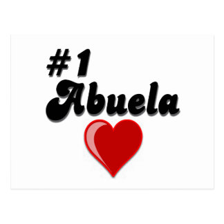 #1 Abuela Granparent's Day Gifts Post Cards