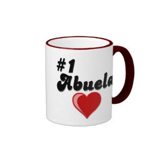#1 Abuela Granparent's Day Gifts Ringer Mug