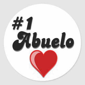 #1 Abuelo Grandparents Day Gifts Classic Round Sticker