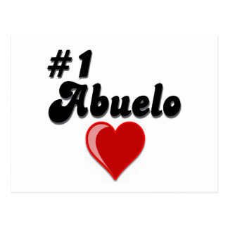#1 Abuelo Grandparents Day Gifts Postcards