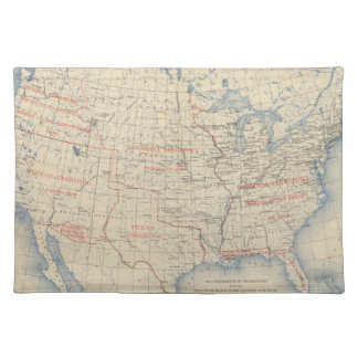1 Accessions of territory Cloth Placemat