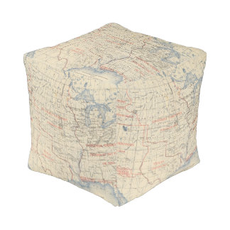 1 Accessions of territory Cube Pouf