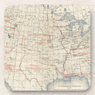 1 Accessions of territory Drink Coaster