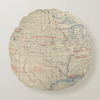 1 Accessions of territory Round Pillow