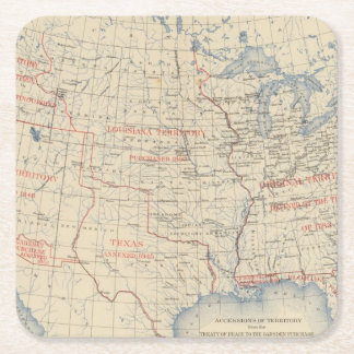 1 Accessions of territory Square Paper Coaster