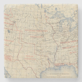 1 Accessions of territory Stone Coaster