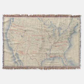 1 Accessions of territory Throw Blanket
