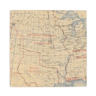 1 Accessions of territory Wood Coaster
