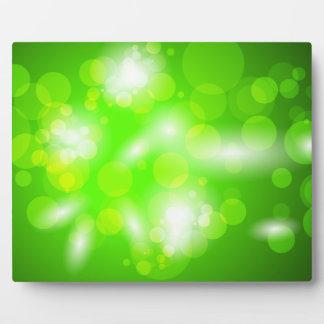 1.ai Greens circles bubbles space digital Photo Plaques
