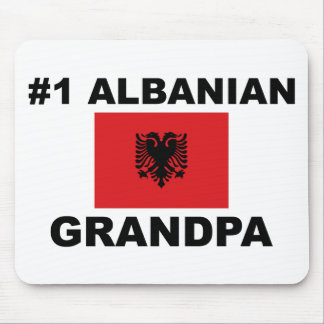 #1 Albanian Grandpa Mouse Pad