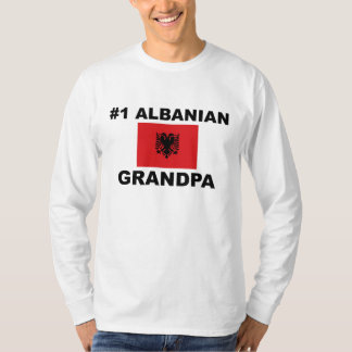 #1 Albanian Grandpa T-shirt