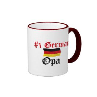 #1 alemán Opa Taza De Dos Colores