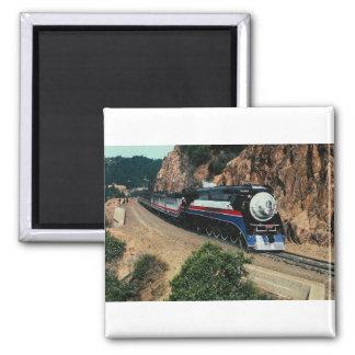 1 American Freedom Train (SP) 4449, Cape Horn, CA 2 Inch Square Magnet