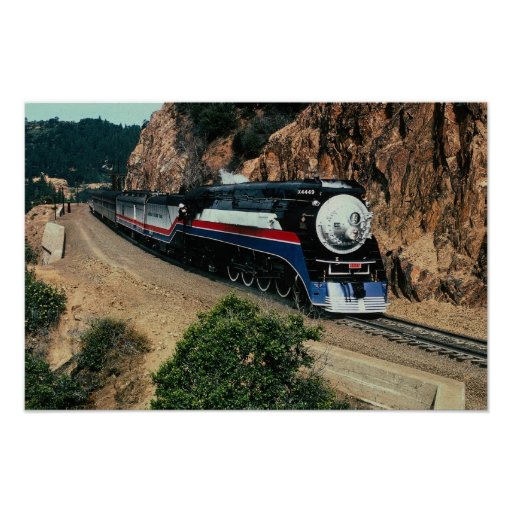 1 American Freedom Train (SP) 4449, Cape Horn, CA Poster