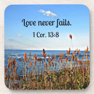 1 amor del 13 8 de los Corinthians nunca falla Posavasos De Bebidas