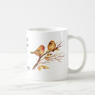 1 amor del 4:8 de Peter profundamente pájaros de Taza De Café