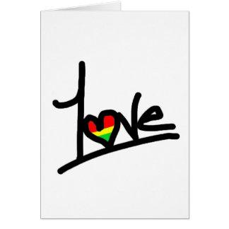1 amor tarjeta de felicitación