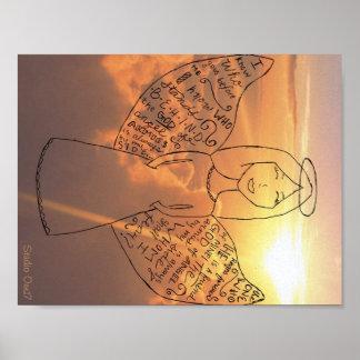 1 ángel de los ejércitos del ángel + Letras de C Poster