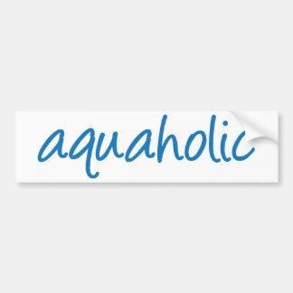 1 aquaholic pegatina para auto